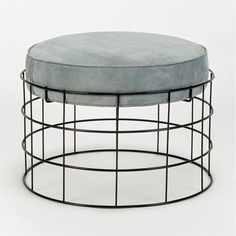 Rare Wireframe Plus Stool with Suede Leather by Verner Panton (Simple Furniture Designs)