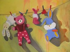 "Saatchi Art Artist Laura Ozola; Painting, ""Washed toys"" #art"