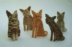 Игрушка Плетение Котики Бумага Трубочки бумажные фото 1