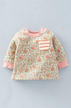 Vintage floral baby sweatshirt