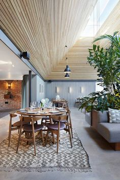 The Woodspeen Restaurant & Cookery School by Softroom | http://www.yellowtrace.com.au/trees-in-interiors/