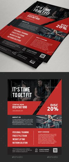 Fitness Gym Flyer by Comodensis • 1 PSD files • Smart object layer• Easy editable• Layer groups• print dimension 216x303 mm (a4)• Lato• Bebas neue•photos and logo