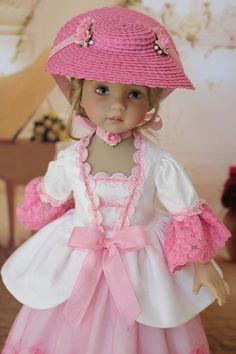 "OOAK Colonial Gown Dress Ensemble 13"" Little Darling Doll Betsy 14"" Dolls"