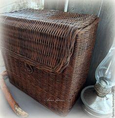 """Купить Плетеный сундук """"Home""""(РЕЗЕРВ). - коричневый, короб для хранения…"""