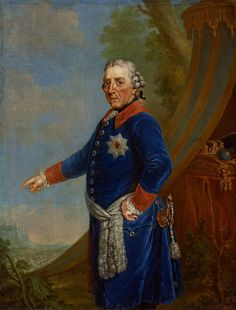 Portrait of Frederick II of Prussia by Friedrich Anton August Lohrmann after Anna Dorothea Lisiewska, 1784-1786 (PD-art/old), Zamek Królewski w Warszawie (ZKW), one of the portraits assembled by Stanislaus Augustus for his Conference Room at the Royal Castle in Warsaw