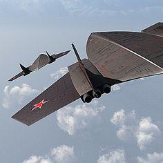 1957-1960   Mozhaysky LKVVIA DSB-LK   Supersonic strategic heavy bomber concept