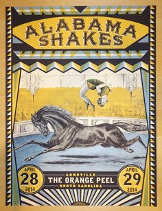 2014 Alabama Shakes - Asheville Concert Poster by Status