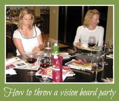 Want to make your dreams a reality this year? Make a vision board to draw what you want into your life! Here's how to finally get that vision board made by hosting a vision board party.