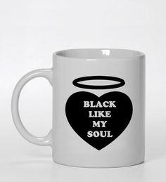 black like my soul ceramic mug  #mug #ceramic_mug