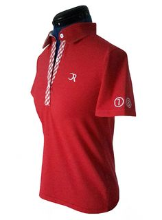 "Polo golf femme Mistral rouge brodé ""Golf Lady"""