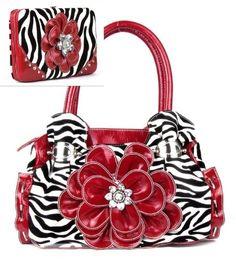 Red Zebra Print Flower Rhinestone Purse W Matching Wallet HBM http://www.amazon.com/dp/B00IJILYMI/ref=cm_sw_r_pi_dp_VZ9Kvb0FFWH5P