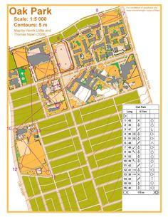 Orienteering event taking place: April 2014 Orienteering is an exciting sport for all ages and fitness levels that involves reading a detailed map and using a compass to find checkpoints. April 2nd, Oak Park, Maps, How To Plan, Cards, Map