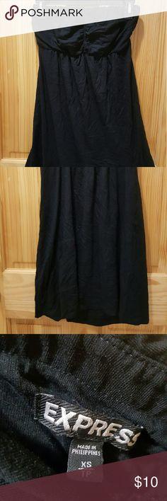 Express black cotton strapless dress Item: black strapless dress  Brand: express  Size: XS  Condition: adequate express  Dresses Strapless