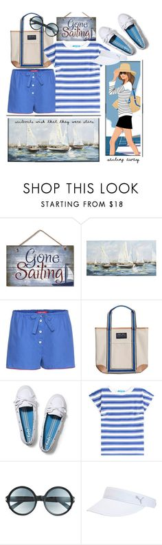 """""""Sail Away !!"""" by kateo ❤ liked on Polyvore featuring Pier 1 Imports, F.R.S. For Restless Sleepers, Lands' End Sport, Keds, M.i.h Jeans, Tom Ford, Puma, stripedshirt and 5805"""