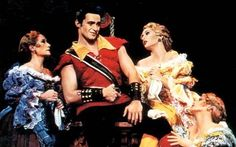 """Hugh Jackman playing Gaston on Broadway. """"Everyone's awed and inspired by you, and it's not very hard to see why!"""" ;)"""