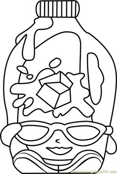 Coolio Shopkins Coloring Page