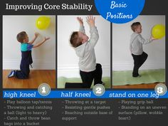 Basic positions to improve a child's core strength