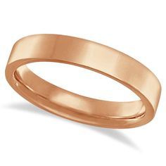 This 14k Rose Gold flat wedding band is perfect for men and for women. The classy plain pink gold ring measures 4 mm in width. This wedding ring is comfort-fit, which means it has rounded edges, both inside and out, to provide you with the ultimate comfort.<p>The comfort-fit gold band is also available in other widths, other finishes, other karats, and other metals.<p>Mix and match with our other fine jewelry.