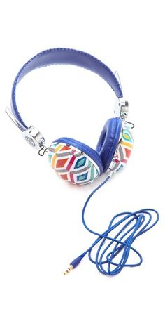 Jonathan Adler updates the headphones with a colorful geometric print $24, get it here: http://rstyle.me/~KOq6