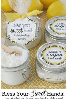 Lemon Sugar Scrub - teacher gifts