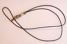 Pandora Leather Lariat Cord Necklace 925 Ale Silver Ends 5 Retired Charms New | eBay