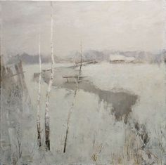 Alexander Zavarin - Pintores rusos - Trianarts Rodriguez - Picasa Web Albums Grisaille, in a way. Painting Snow, Winter Painting, Winter Art, Winter Snow, Winter Landscape, Landscape Art, Landscape Paintings, Russian Art, Contemporary Paintings