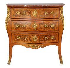 commode de style Louis XV marbre brèche bronze doré XIXème