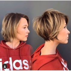 Modern Short Hairstyles, Short Hair Styles Easy, Short Hair With Bangs, Short Hair Cuts For Women, Edgy Short Hair, Easy Hairstyles, Little Girl Hairstyles, Hairstyles For School, Short Highlighted Hairstyles