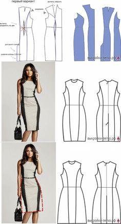Платья на разные типы фигур для начинающих   Выкройки онлайн и уроки моделирования Clothing Patterns, Dress Patterns, Sewing Patterns, Draped Dress, Fashion Sewing, Sewing Clothes, Dress Codes, Dressmaking, Pattern Fashion
