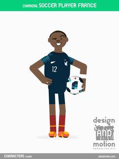 CHAR056_SoccerPlayerFrance. Part of D&M Character Kit.