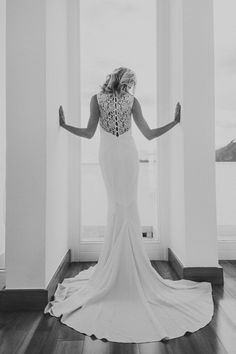 amazing photo of the back of the #nicolemiller Lauren bridal gown.