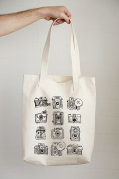 Super cute Vintage Camera Set Tote Bag