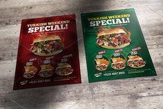Turkish kebab flyer by Marveline on @creativemarket