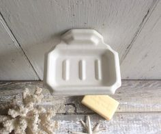Vintage porcelain wall mounted soap dish by covetantiques on Etsy