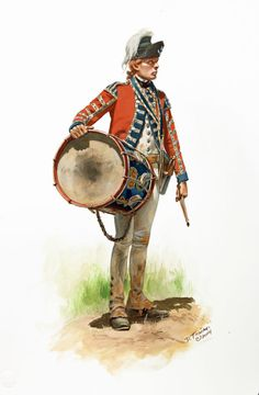 Drummer of the British Army's 21st Foot (the Royal Scots Fusiliers) during the American Revolution, by Don Troiani.