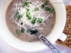 Caramelized Onion Mushroom Gouda Soup