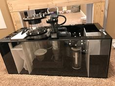 The Ultimate Reef Tank Plumbing for Ultra Clean Look Saltwater Aquarium Setup, Aquarium Sump, Saltwater Fish Tanks, Aquarium Filter, Reef Aquarium, Aquarium Ideas, Marine Tank, Marine Fish, Discus Fish
