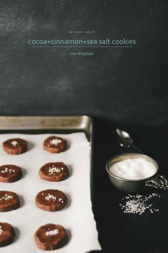 cocoa cinnamon sea salt cookies