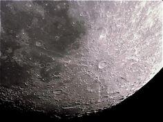 Beautiful photo of the moon taken by StarTalk fan Carlucho Paris through a telescope he built himself. He also ground the mirror!