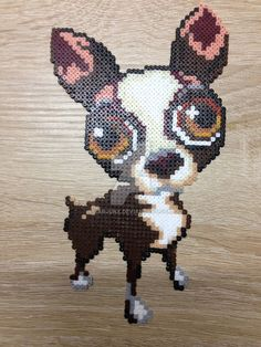 Chihuahua dog perler beads by XArjunX