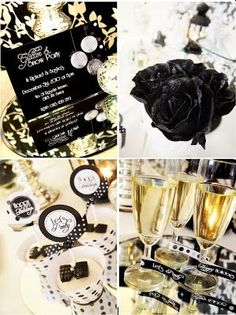 Black and gold NYE party décor ideas!