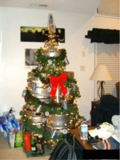 Keg Christmas Tree. and the kegs would have so many other uses