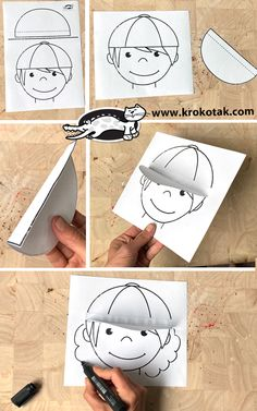 krokotak | SUMMER CAP CRAFT Fall Paper Crafts, Diy And Crafts, Arts And Crafts, Blouses Roses, Summer Cap, Christmas Crafts For Kids To Make, Art Lessons Elementary, Camping Crafts, Art Club