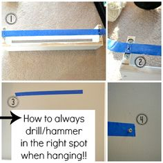 How to hang a picture and make sure your holes are ALWAYS in the right spot!