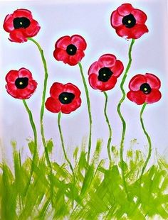 The most inspiring Remembrance Day poppy craft ideas for kids Easy Painting Projects, Spring Art Projects, Cheap Fall Crafts For Kids, Kids Crafts, Toddler Crafts, Easy Crafts, Poppy Craft For Kids, Art For Kids, Fingerprint Crafts