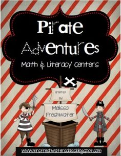 Ahoy Me Hearties! By popular demand and request, I created this pirate themed packet to utilize during your math and literacy centers. Pirate Preschool, Pirate Activities, Pirate Games, Math Literacy, Literacy Centers, Teaching Math, Elementary Teaching, Literacy Activities, Teaching Tips