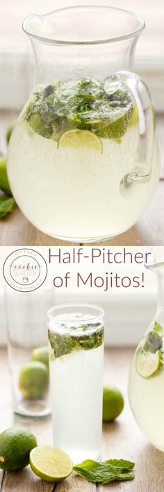Half Pitcher of Mojitos | http://thecookiewriter.com | @thecookiewriter | #drink