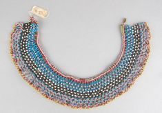 Old Xhosa collar. Bead Jewelry, Tribal Jewelry, Jewelry Accessories, Necklace Types, Beaded Necklace, Xhosa, African Trade Beads, Museum Collection, British Museum