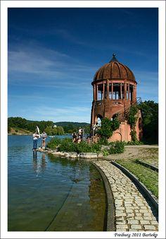 Seepark, Lake Flückigersee in Freiburg, Germany