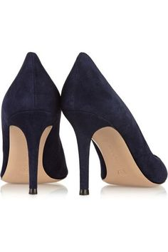 Gianvito Rossi - 85 Suede Pumps - Midnight blue - IT38.5